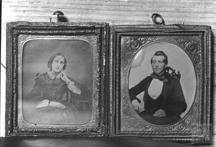 Copies of two unidentified portraits from a locket c.1890s