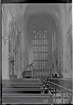 The Nave and Choir, Bath Abbey c.1925