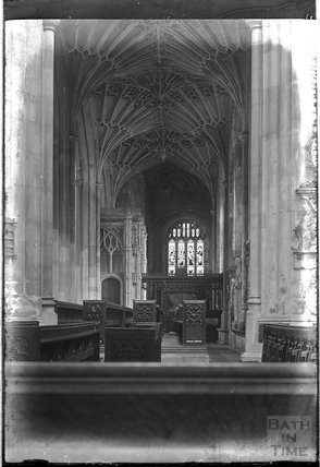 Bath Abbey, South Aisle c.1925