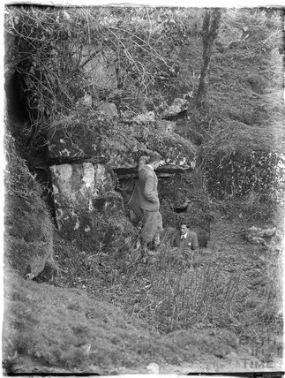 Entering a stone mine at Bathampton Rocks c.1930s