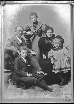Studio group portrait of a family c.1900s