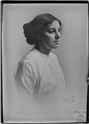 Copy of a photographic portrait of a lady c.1900s