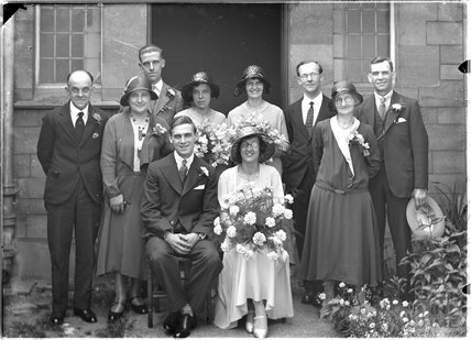 A wedding portrait of an unknown group c.1920s