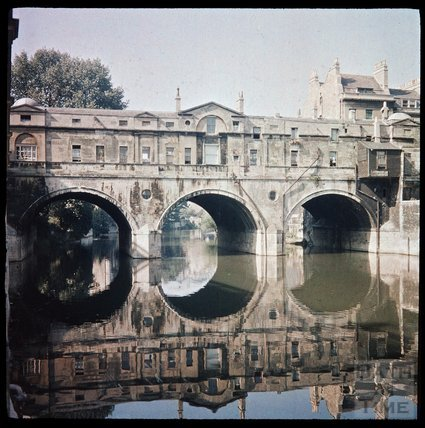Dufaycolor view of Pulteney Bridge, Bath, May 1937