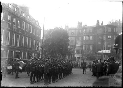 Cadets inspection in Alfred Street, Bath c.1920s