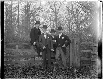 The photographer's friends posing c.1910s