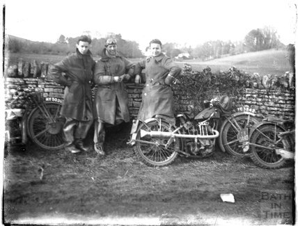 A trio of motorcyclists c.1920s