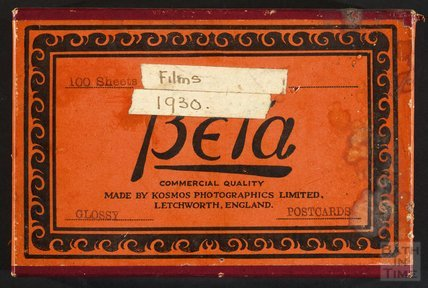 A box that once contained the photographic paper that postcards were printed on c.1930s