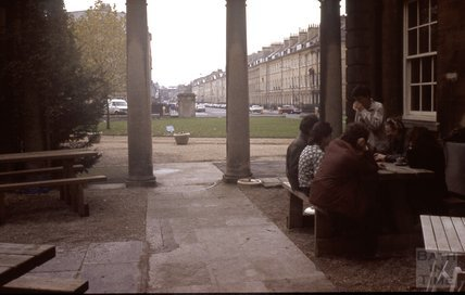 Tea beside the Holburne Museum 1989