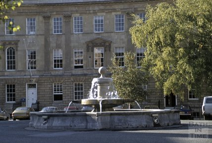 Fountain at Laura Place, Great Pulteney Street, 1979