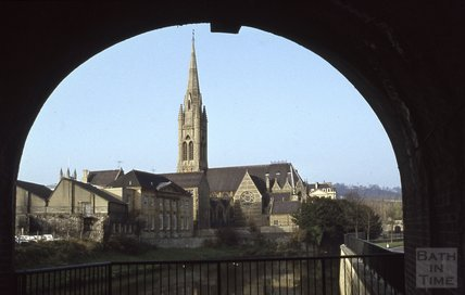 St Johns Church viewed under St Johns Church, 1979