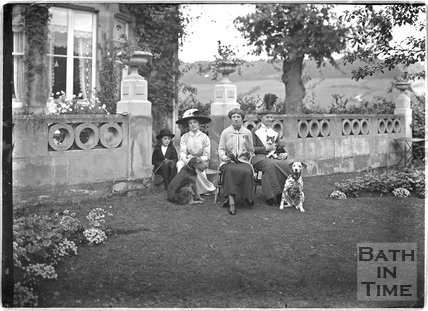 Family portrait, Monkton House, Warminster Road, Limpley Stoke c.1910s