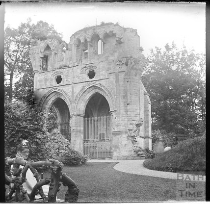 The ruins of Dryburgh Abbey in the Scottish Borders c.1900