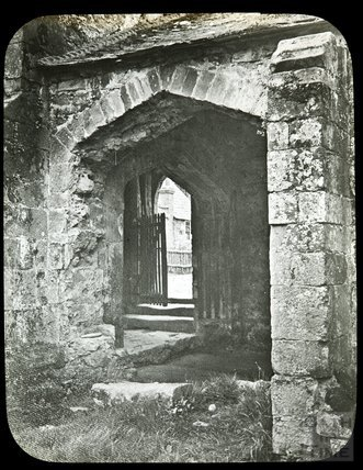 Entrance to the cloisters, Cleeve Abbey, c.1910s