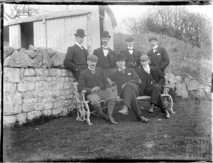 Group portrait of the photographer's chums c.1900