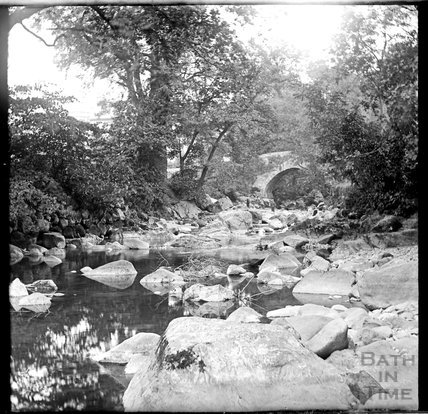 River scene at Ivybridge, Devon, c.1900