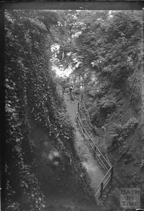 Steep rocky path viewed from above, c.1890s