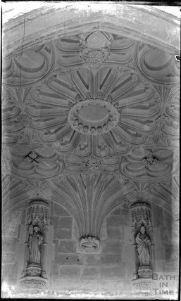 Vault of south porch of the church of St Andrew, Mells. c.1930s