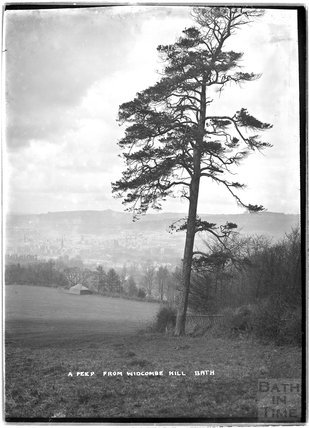 A peep from Widcombe Hill, Bath c.1900s