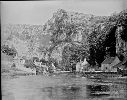 View of Cheddar Gorge from the river c.1890s