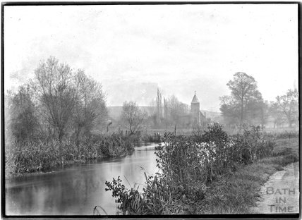 Steeple Langford, Wilts and the River Wylye, c.1920s