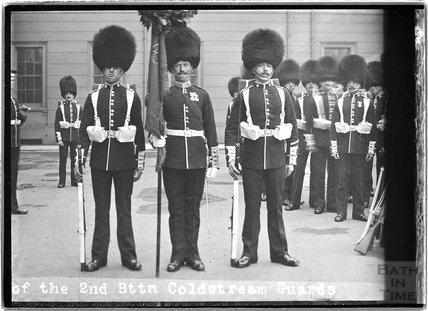 Copy of a photograph of the 2nd Battalion, Cold stream Guards, c.1920s