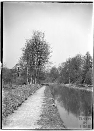 Thought to be the Kennet and Avon canal, near Limpley Stoke c.1920