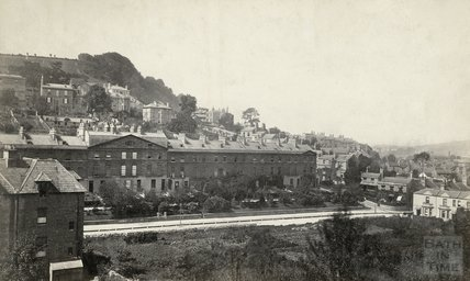 View of Prior  Park Buildings, Widcombe and Beechen Cliff, Prior Park Road 1876