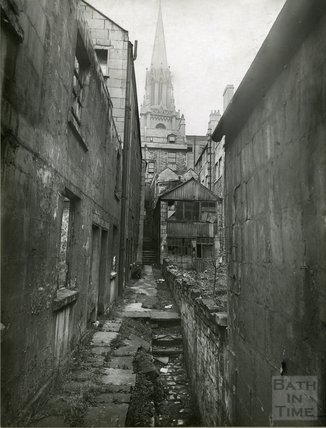 St Michael's Court behind Nos 2 and 3 Walcot Street, c.1930s