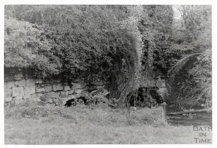 Somersetshire Coal Canal, Midford aqueduct West Side view from North side of stream  November 16th 1968