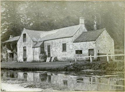 Tucking Mill House and Mill, across the Somersetshire Coal Canal, c.1890s
