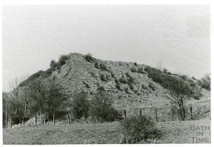 Somersetshire Coal Canal, spoil/slag heap near Radford,, 5 April 1969