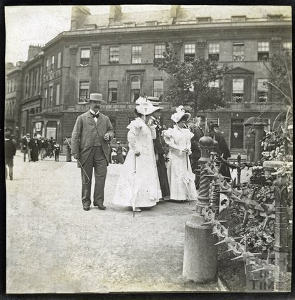 Laura Place, Bath.  Diamond Jubilee celebrations 1897