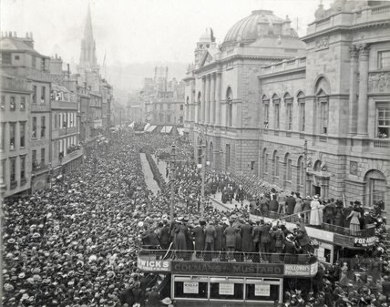 Proclamation of King George V at the Guildhall, 1910