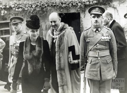 Visit of the Duchess of Kent to the Assembly Rooms, Bath, 1938