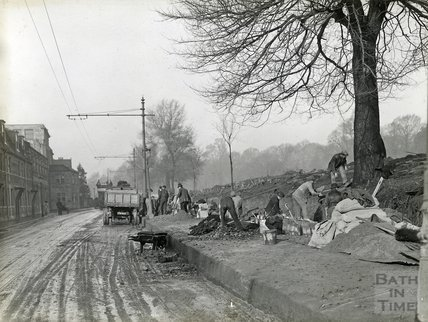 Upper Bristol Road, Looking at Victoria Park, March 1921
