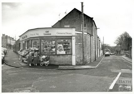 General store at the top of Summer Lane, Combe Down 1993?