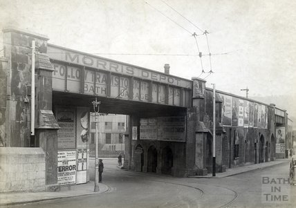 Railway viaduct by Old Bridge, c.190s