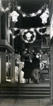 Christmas Lights in Union Passage, Bath, 1980