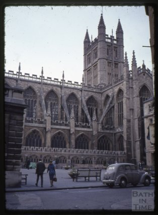 Bath Abbey from York Street, 1965