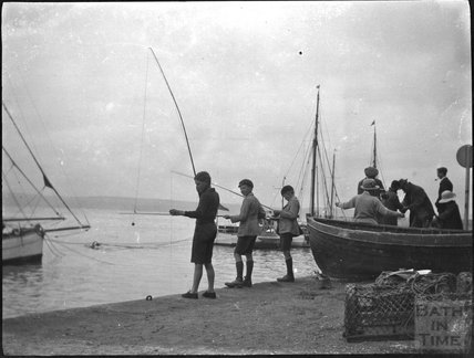 Fishing at Weymouth Harbour, c.1920s