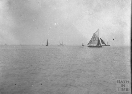 Boats at sea, unidentified location, c.1900s