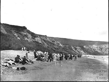 Men bathing near Swanage, c.1900s