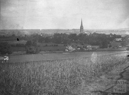 View to Salisbury Cathedral from Harnham, c.1900s