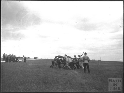 Military exercise, unidentified military camp, c.1900s
