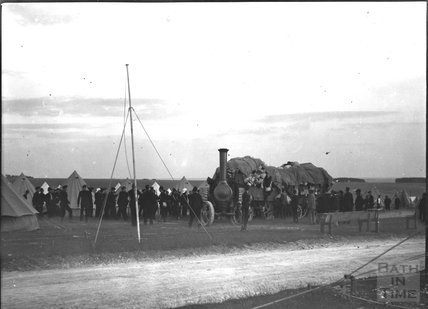 Delivery, unidentified military camp, c.1900s