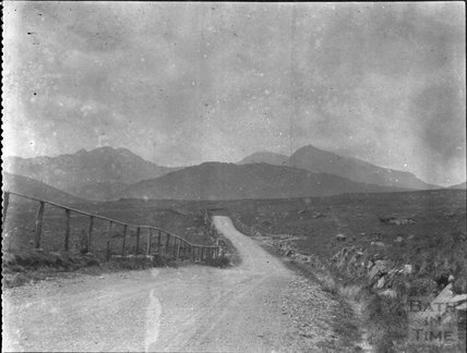 View looking from Capel Curig towards Snowdon on the present day A4086, c.1900s