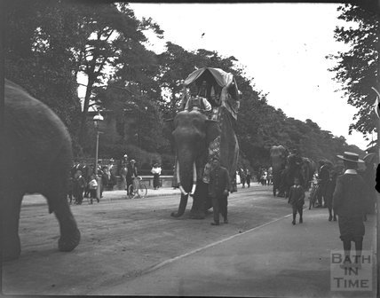 Procession with elephant, London, c.1900s