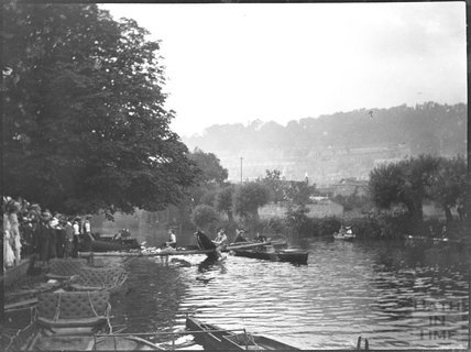 Rowing event on the Avon, Bathwick, c.1900s