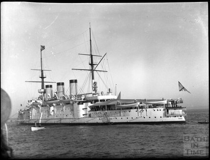 Unidentified warship, c.1900s